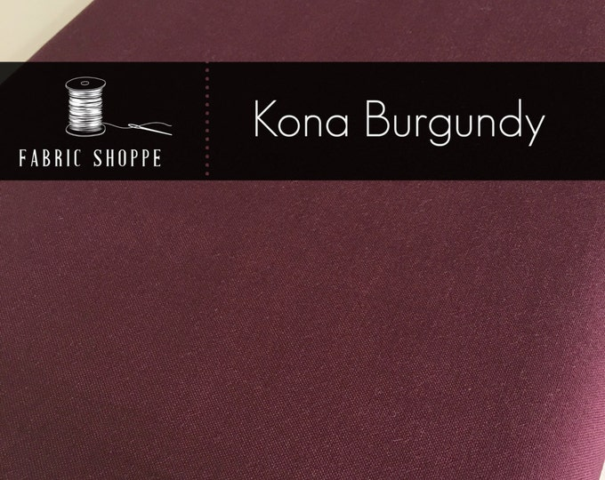 Kona cotton solid quilt fabric, Kona Burgundy 1054, Kona fabric, Solid fabric Yardage, Kaufman, Christmas fabric, Choose the cut
