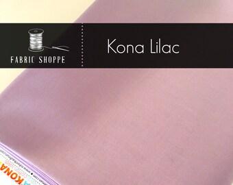 Kona cotton solid quilt fabric, Kona Lilac 1191, Purple fabric, Solid fabric Yardage, Kaufman, Cotton fabric, Choose the cut