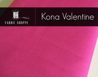 Kona cotton solid quilt fabric, Kona VALENTINE 451, Kona fabric, Solid fabric Yardage, Kaufman, Cotton fabric by the yard, Choose the cut