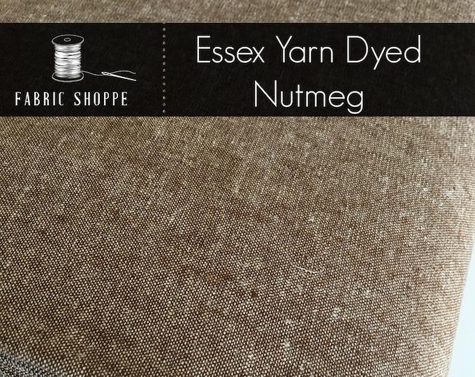 Essex Linen, Linen Blend fabric, Essex Yarn Dyed, Apparel Fabric, Denim Dress fabric, Yarn Dyed fabric, Linen fabric, Essex in Nutmeg