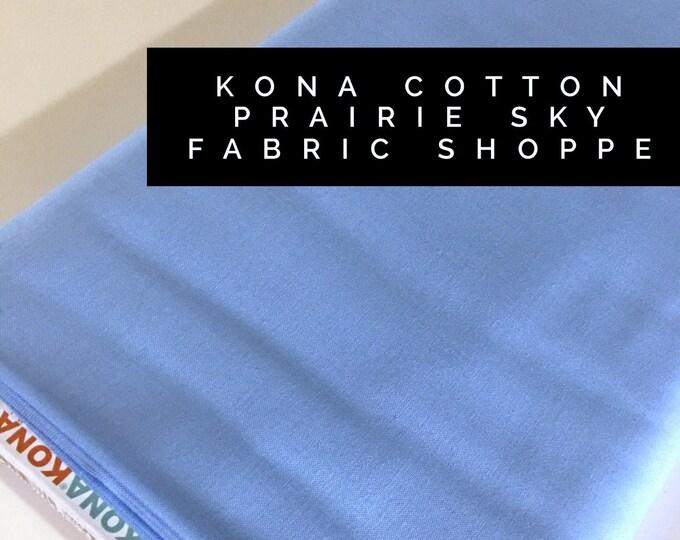 Kona cotton solid quilt fabric, Kona PRARIE SKY 1855, Solid fabric Yardage, Kaufman, Quilting Cotton fabric, Choose the cut