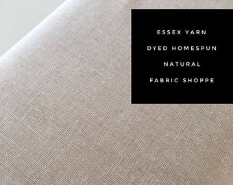 Essex Linen Homespun, Linen Blend fabric, Essex Yarn Dyed, Apparel Fabric, Dress fabric, Yarn Dyed fabric, Essex Homespun in Natural