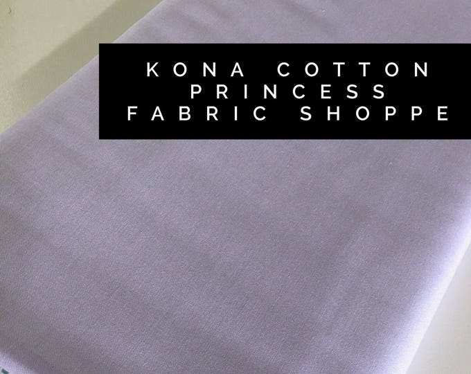 Kona cotton solid quilt fabric, Kona PRINCESS 1844, Solid fabric Yardage, Kaufman, Quilting Cotton fabric, Choose the cut