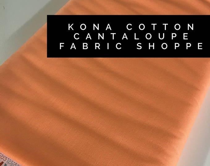 Kona cotton solid quilt fabric, Kona CANTALOUPE 159, Solid fabric Yardage, Kaufman, Quilting Cotton fabric, Choose the cut