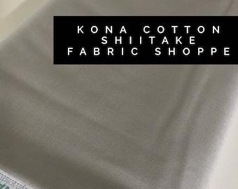 Kona cotton solid quilt fabric, Kona SHIITAKE 1858, Solid fabric Yardage, Kaufman, Quilting Cotton fabric, Choose the cut