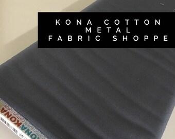 Kona cotton solid quilt fabric, Kona METAL 1106, Solid fabric Yardage, Kaufman, Quilting Cotton fabric, Choose the cut