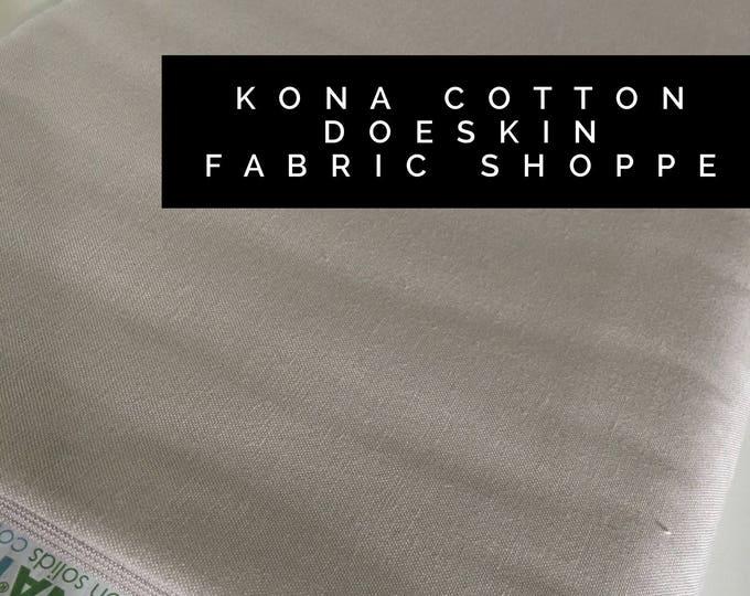 Kona cotton solid quilt fabric, Kona DOESKIN 1850, Solid fabric Yardage, Kaufman, Quilting Cotton fabric, Choose the cut