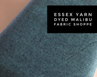 Essex Linen, Linen Blend fabric, Essex Yarn Dyed, Apparel Fabric, Denim Dress fabric, Yarn Dyed fabric, Linen fabric, Essex in Malibu