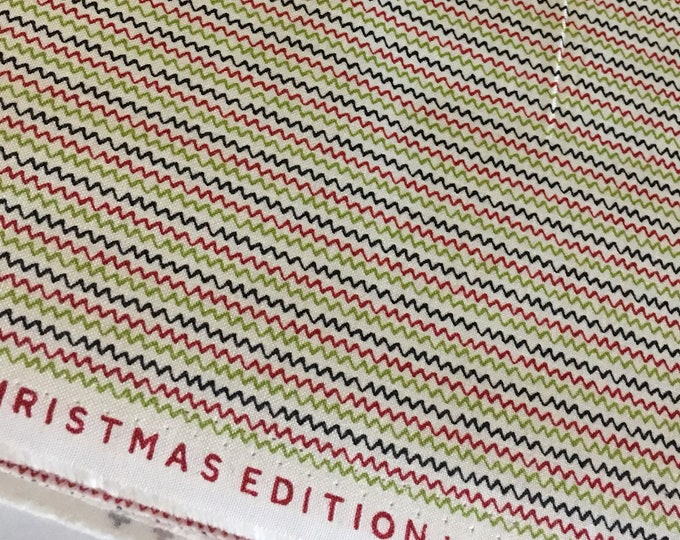 Christmas fabric, Quilting fabric, Cozy Quilt, Christmas or Winter Craft, Hometown Christmas, Christmas Stripe in Multi- Choose the Cut