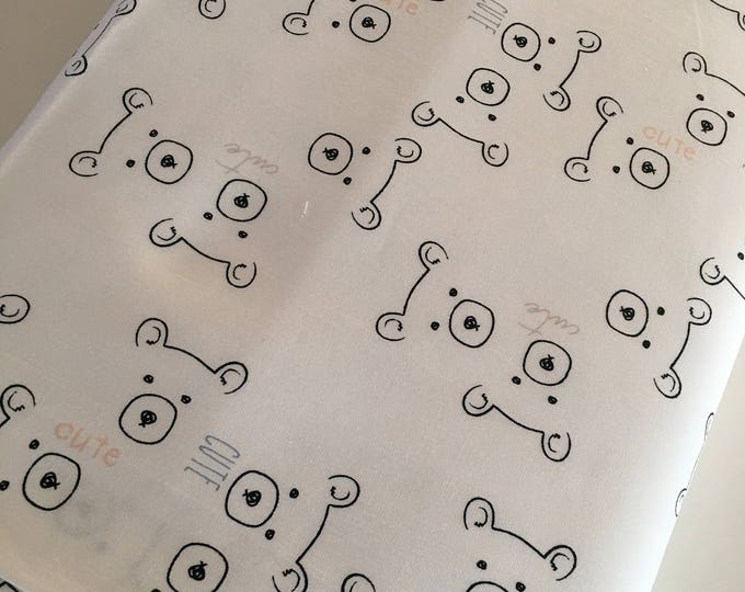 Nest fabric by Art Gallery, Gender Neutral Fabric, Black and White Decor, Nursery, Girl or Boy Baby Quilt, Care Bears - Choose your cut