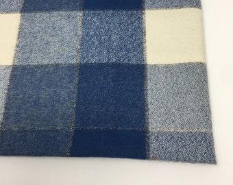 Buffalo Plaid, Mammoth Plaid Flannel, Make your Own Baby Blanket Plaid,  Blue Flannel, Robert Kaufman, Mammoth Flannel in Denim 467