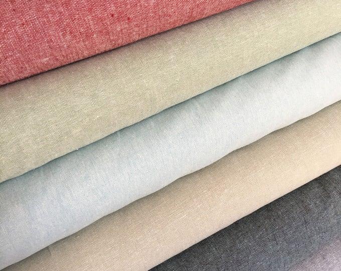 Essex Linen fabric bundle, Dress Fabric, Quilting bundle Fabric, Essex Yarn Dyed, Linen fabric, Robert Kaufman, Fabric bundle of 6