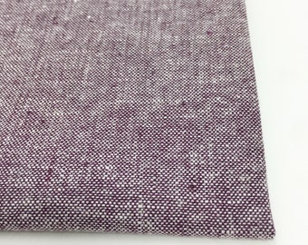 Essex Linen, Essex Yarn Dyed, Apparel Fabric, Purple fabric, Cotton fabric, Linen Blend fabric, Linen fabric, Essex in Eggplant