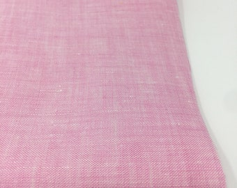 Linen Fabric, 100 % Natural Linen Fabric, Linen by the Yard, Soft Linen, Pure Linen, Linen Bedding fabric, Limerick Linen in Pink
