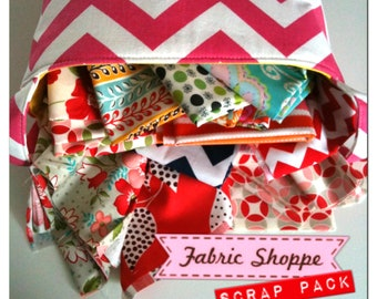 SALE Scrap Fabric, Pack of Scrap Fabrics, Designer Fabric, Fabric Shoppe fabrics. Best Seller! You Choose the amount. Free Shipping Availa