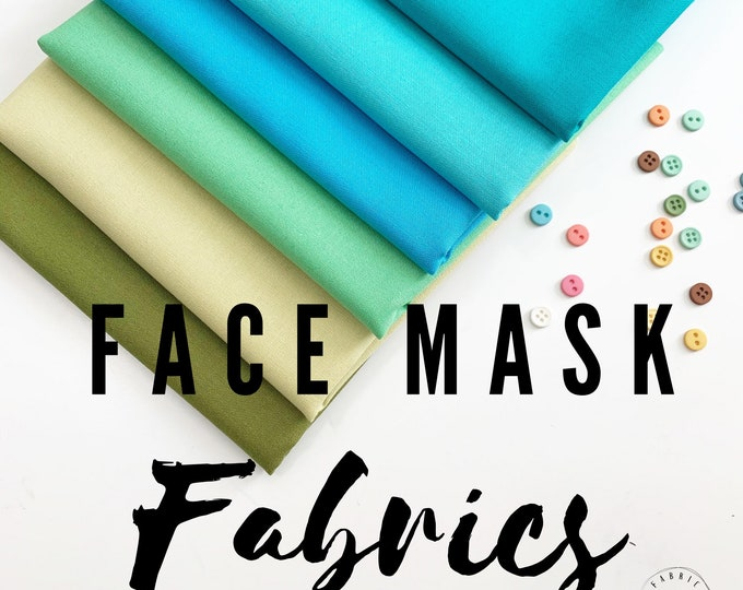 Cotton Face Mask Solid Fabric Scraps, Homemade Face Mask Fabric, 100% cotton, High Thread Count, Large Pieces for your face mask project