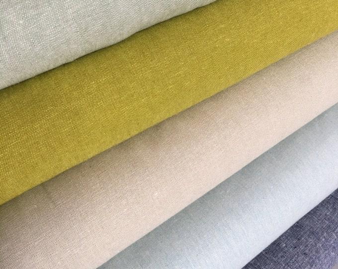 Linen fabric bundle, Gray Linen Fabric, Toddler Dress Fabric, Essex Yarn Dyed, Linen fabric, Robert Kaufman, Fabric bundle of 5