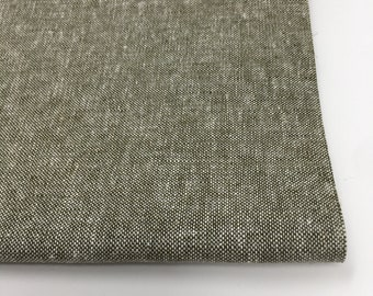 SALE fabric, Essex Linen, Essex Yarn Dyed, Apparel Fabric, Cotton fabric, Olive Green Fabric, Linen fabric, Robert Kaufman, Essex in Olive