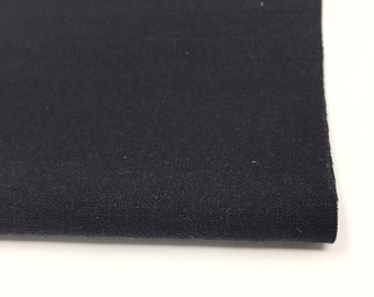 Soft Linen Fabric, 100 % Natural Linen Fabric by the Yard, Black Linen for pillow covers, curtains or embroidery, Limerick Linen in Black