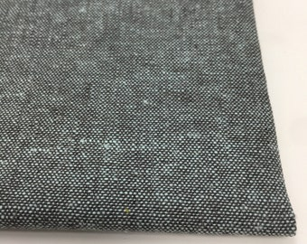 Essex Linen, Essex Yarn Dyed, Apparel Fabric, Quilt fabric, Cotton fabric, Gray Fabric, Linen fabric, Robert Kaufman, Essex in Shale