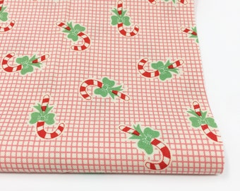 Christmas Fabric, Vintage Santa, Christmas Quilt, Quilting bundle, Vintage Quilt, Swell Christmas Fabric, Candy Cane Red, Choose the Cut