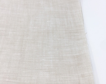 Linen Fabric, 100 % Natural Linen Fabric, Linen by the Yard, Soft Linen, Pure Linen, Linen Bedding fabric, Limerick Linen in Linen Ivory