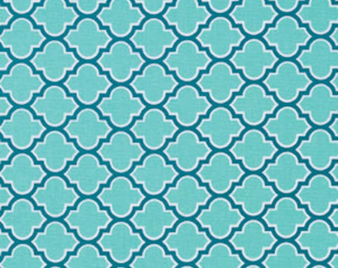 Cotton Fabric by the Yard, Moroccan Tile, True Colors fabric, Quilt fabric, Aqua fabric, Aqua Trellis by Joel Dewberry, Choose your cut