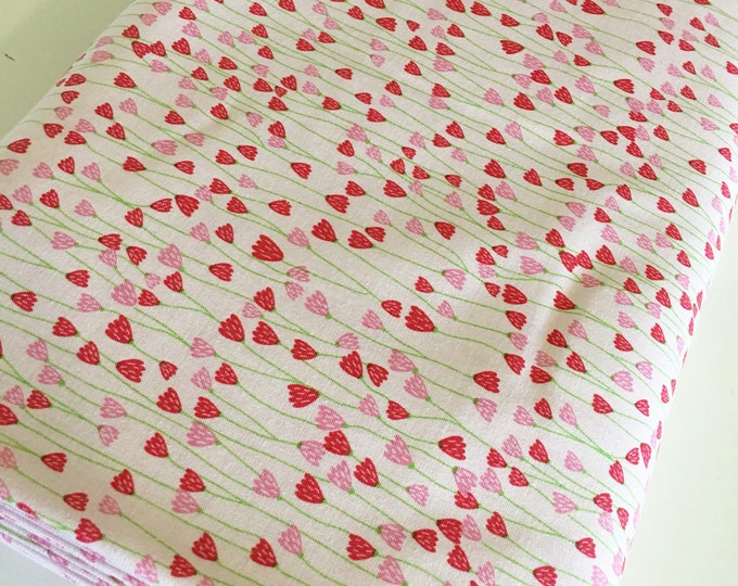Fabric by the Yard, Simply Happy Words Fabric, Cute Fabric, Girl Quilt Fabric, Simply Happy Hearts, choose the cut