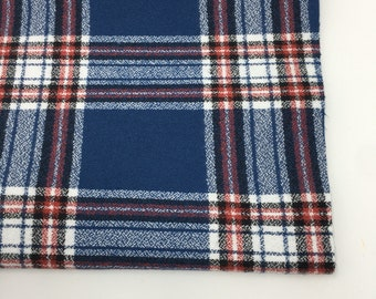 Flannel Fabric, Mammoth Plaid Flannel, Buffalo Plaid, Red and Blue Flannel, Lumberjack Chic, Robert Kaufman, Mammoth Flannel Americana 105