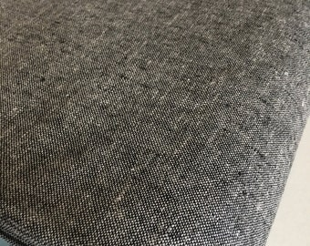 Essex Linen, Essex Yarn Dyed, Apparel Fabric, Quilt fabric, Cotton fabric, Black Fabric, Linen fabric, Robert Kaufman, Essex in Charcoal