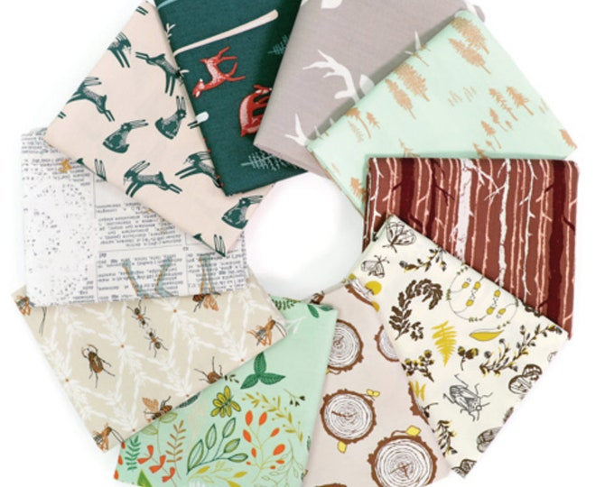 Woodland Fabric bundle for baby quilt or adult blanket or Woodland Nursery by Art Gallery Fabric- Fabric Bundle of 10