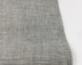 Soft Linen Fabric, 100 % Natural Linen Fabric by the Yard, Gray Linen, Limerick Linen in Charcoal Grey by Robert Kaufman