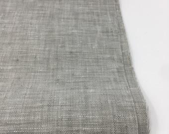 Soft Linen Fabric, 100 % Natural Linen Fabric, Linen by the Yard, Grey Linen, Pure Linen, Linen Bedding fabric, Limerick Linen in Charcoal