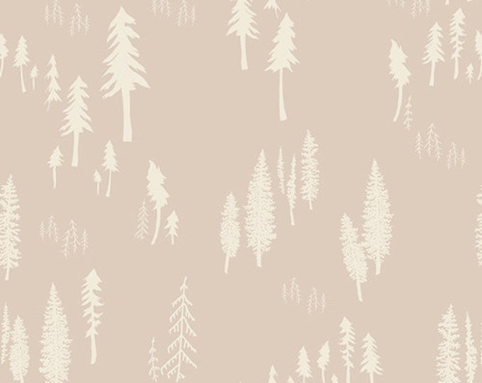 Hello Bear fabric, Gender Neutral fabric, Woodland Nursery, Brown fabric, Tree fabric, Timberland in Trunk, Choose your Cut