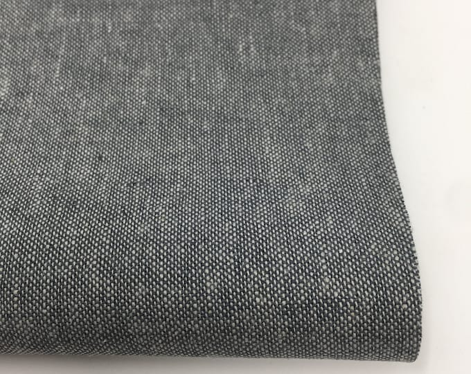 Essex Linen, Essex Yarn Dyed, Apparel Fabric, Quilt fabric, Cotton fabric, Gray Fabric, Linen Blen, Robert Kaufman, Essex in Graphite