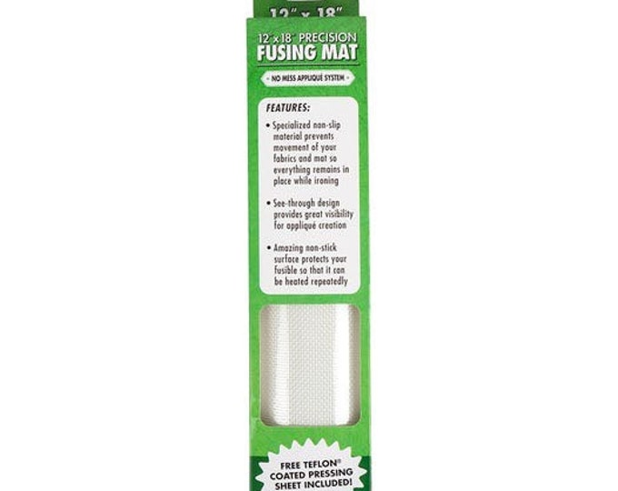 "Precision quilting tools fusing mat 12"" by 18"" great for easy ironing and placement for appliqué"