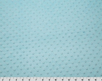 SALE Cuddle Minky, fabric, Dimple Minky, Textured Minky, Dimple Dot Fabric, Shannon Fabrics- Cuddle Dot in Aqua 1 yard