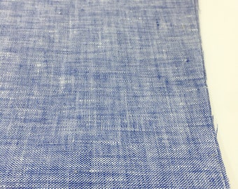 Natural Linen Fabric, 100 % Linen Fabric, Linen by the Yard, Soft Linen, Pure Linen, Linen dress fabric, Limerick Linen in Navy