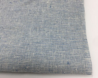 Essex Linen Homespun, Linen Blend fabric, Essex Yarn Dyed, Apparel Fabric, Dress fabric, Yarn Dyed fabric, Essex Homespun in Chambray