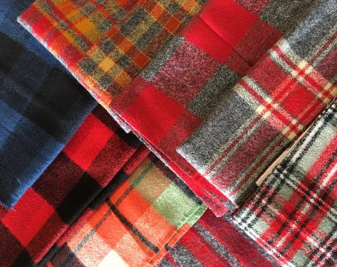 SALE Scrap Fabric, Flannel Fabrics Scraps, End of Bolt, Fabric Shoppe, Best Seller! 1/2 LB scraps