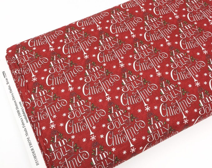 Christmas Cotton Fabric for Christmas Quilts or Crafts, Hearthside Holiday by Moda Fabrics, Red Christmas Tree, choose the cut