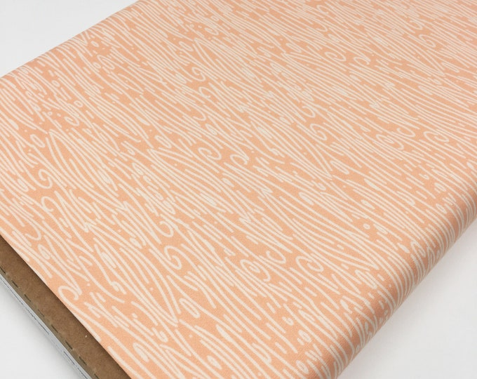 Hello Bear Woodgrain fabric, Woodland Nursery Decor, Baby Girl fabric, Peach fabric, Wildwood in Nectar, You Choose the Cut