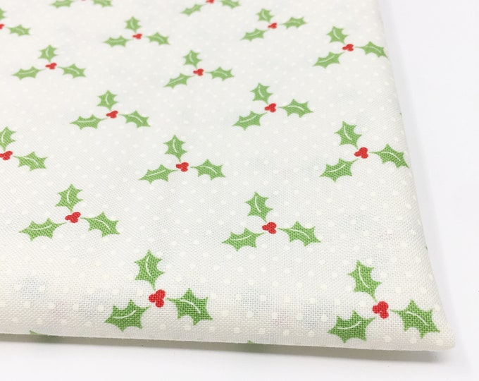 Christmas Fabric, Vintage Santa, Christmas Quilt, Quilting bundle, Vintage Quilt, Swell Christmas Fabric, Swell Holly Cream, Choose the Cut