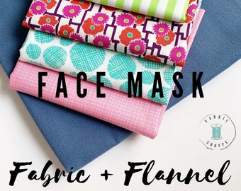 FACE MASK fabric, Homemade Face Masks Scrap fabrics, Pack of Cotton Fabric perfect to make Homemade Face Masks, PLUS Flannel, Free Shipping!
