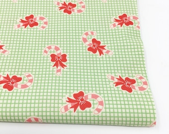 Christmas Fabric, Vintage Santa, Christmas Quilt, Quilting bundle, Vintage Quilt, Swell Christmas Fabric, Candy Cane Green, Choose the Cut