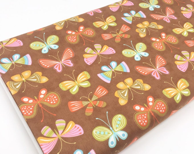 SALE fabric, Butterfly cotton fabric by the yard, Yardage, Quilting Sewing fabric, Gift for her, Discount fabric, Cotton fabric
