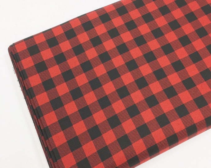 Christmas Cotton Fabric for Christmas Quilts or Crafts, Special Delivery by Moda Fabrics, Red Plaid, choose the cut