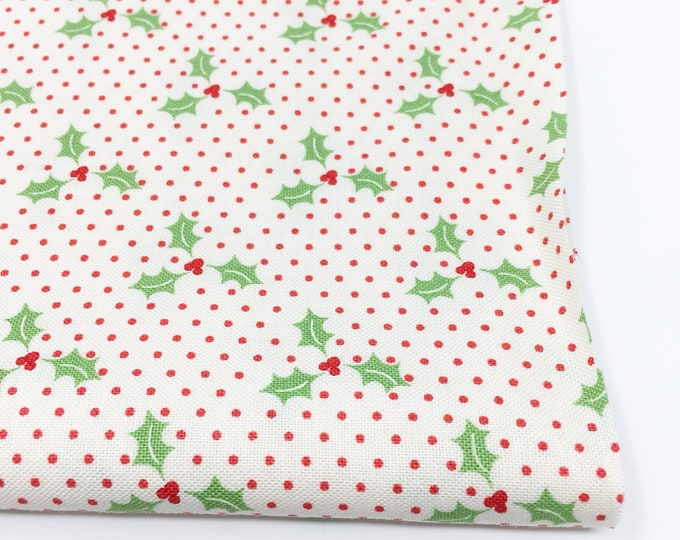 Christmas Fabric, Vintage Santa, Christmas Quilt, Quilting bundle, Vintage Quilt, Swell Christmas Fabric, Swell Holly Red, Choose the Cut