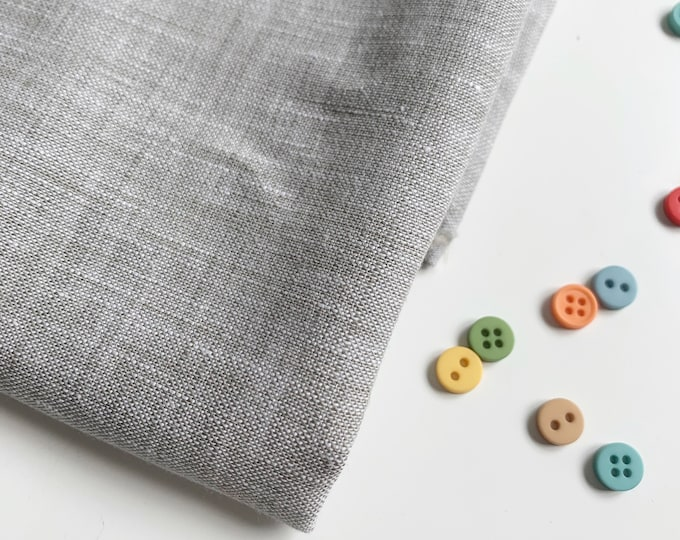 100% Linen, Limerick linen in charcoal, gray linen fabric by Robert Kaufman Fabrics, gray neutral fabric, 1 YARD