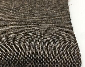 Linen Fabric, Essex Linen, Linen Blend fabric, Essex Yarn Dyed, Apparel Fabric, Denim Dress fabric, Yarn Dyed fabric, Essex in Espresso